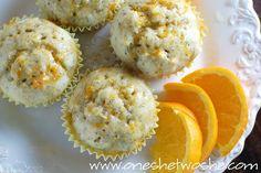 Summer Muffins ~ (...orange, banana, & poppy seed...) - Or so she says...