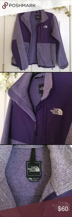 The North Face | Denali fleece jacket A cute and warm North Face jacket in good condition! It has been worn several times, but is still soft with very minor pilling. All zippers and work and there are no imperfections. Women's size small. The North Face Jackets & Coats