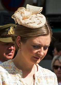 Princess Stéphanie, May 21, 2017 in Sylvia Martinez/Les Folie's Bibis   Royal Hats