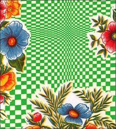 Optical Green Oilcloth