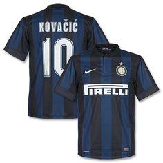 Camiseta del Inter de Milán 2013-2014 Local + Kovacic 10