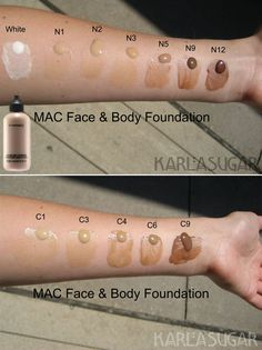 SWATCHES :: MAC Face & Body Foundation :: Waterproof liquid foundation…
