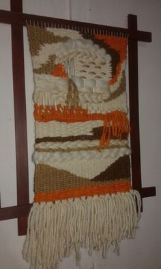 Textiles, Ladder Decor, Weave, Christmas Crafts, Diy And Crafts, Tapestry, Tapestry Weaving, Hanging Tapestry, Woven Wall Hanging