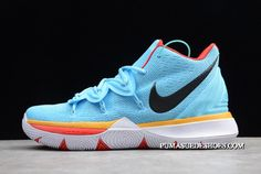 2019 Nike Kyrie 5 EP Sky Blue/Orange Red Source by shoes Girls Basketball Shoes, Volleyball Shoes, Nike Basketball Shoes, Basketball Cookies, Basketball Tattoos, Basketball Posters, Basketball Gifts, Basketball Art, Basketball Pictures