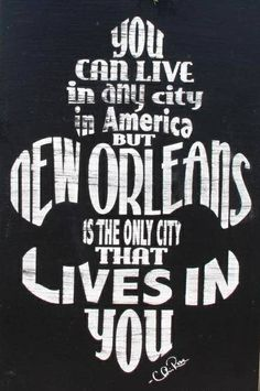 "15""x24"" New Orleans Lives in You handmade distressed fleur de lis wood sign"