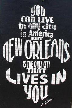Fleur de lis New Orleans quote