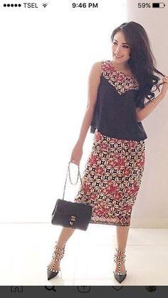 So flattering. & I love batik prints!