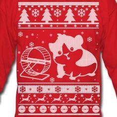 Guinea Pig Ugly Christmas Sweater Long Sleeve Shirts