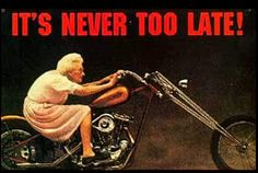 funny pictures riding motor cycles | Grandma Ride on a motorcycle harley