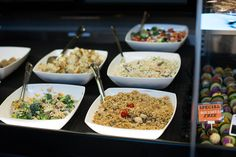 Always a variety of salads ready in our deli case. Perfect for a side dish, or a snack on their own