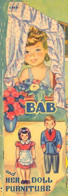 Bab and her doll furniture 1943