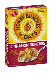 Honey Bunches of Oats with Cinnamon Bunches has crunchy oat clusters with real cinnamon baked right in to start your day the delicious way. Real Cinnamon, Best Cereal, Great Grains, Whole Grain Foods, Mint Smoothie, Bad Room Ideas, Granola, Spice Things Up, Honey