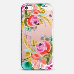 watercolor floral boho case by Bari J. - Classic Snap Case