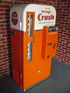 orange crush vending machine
