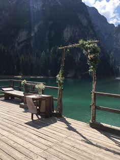 romantic location in the Dolomites