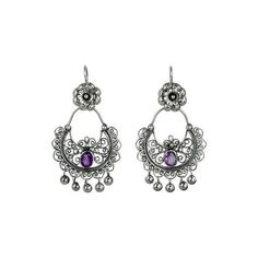 NOVICA Sterling Silver Mazahua Engagement Earrings with Amethyst (2.105.060 IDR) ❤ liked on Polyvore featuring jewelry, earrings, amethyst, chandelier, clothing & accessories, sterling silver earrings, amethyst chandelier earrings, amethyst earrings, sterling silver chandelier earrings and sterling silver amethyst earrings