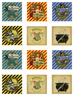 Printable Harry Potter Cupcake Toppers, or Favor Tags Harry Potter Cupcake Toppers, Harry Potter Cupcakes, Harry Potter Theme, Harry Potter Birthday, Harry Potter Love, Harry Potter Planner, Harry Potter Printables, J'ai Dit Oui, Classe Harry Potter