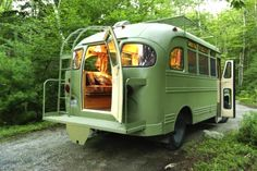 Chevrolet Bus Restored into a Funky Mobile Camper. See more at http://humble-homes.com/chevrolet-bus-restored-funky-mobile-camper/