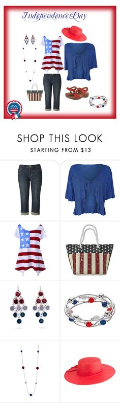 """""""Independence Day BBQ and Celebration"""" by audkoppe on Polyvore featuring Simply Vera, WearAll, Cappelli Straworld, Kim Rogers, Peter Grimm and ara"""