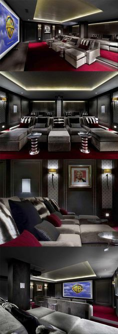More ideas below: DIY Home theater Decorations Ideas Basement Home theater Rooms Red Home theater Seating Small Home theater Speakers Luxury Home theater Couch Design Cozy Home theater Projector Setup Modern Home theater Lighting System