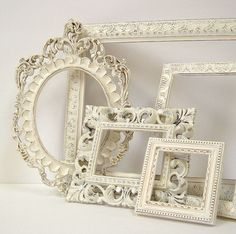 Picture Frames Shabby Chic Picture Frame by MountainCoveAntiques