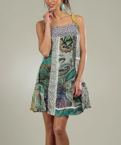 Take a look at this For Her Purple & Turquoise Paisley Dress on zulily today!