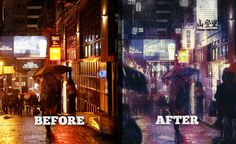 VIP Exclusive Photoshop Tutorial – Turn Ordinary Photo into Futuristic Rainy Illustration with Photoshop