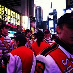@Syracuse University Marching band in Times Square