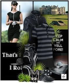 Keep Calm and Yell FORE Collection only at lorisgolfshoppe.polyvore.com! #polyvore #golf #fashion #lorisgolfshoppe