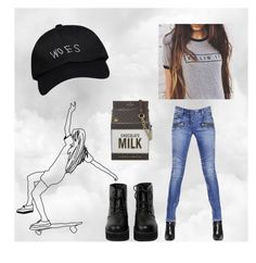 """""""runnin through the 6 wit my woes"""" by bellaclairecassedemont ❤ liked on Polyvore featuring The WhitePepper, Balmain, October's Very Own and Kate Spade"""