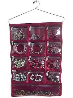 Jewellery hanging storage clear #display bag hanger accessory #organiser #chain,  View more on the LINK: 	http://www.zeppy.io/product/gb/2/231001443690/