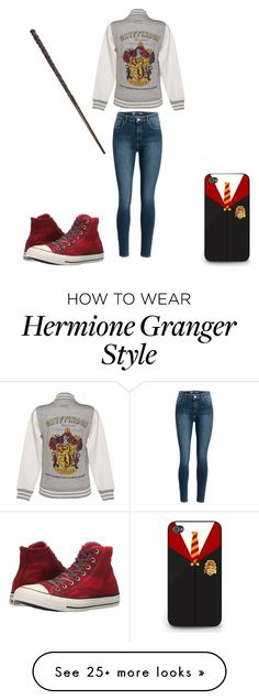 """Causal Harry Potter"" by a-ms-valdez on Polyvore featuring Converse"