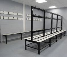 Changing room bench seating from Continental Sports