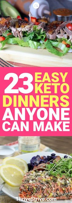 The keto diet is awesome because there are so many great meals you can make with it. Here are 23 of my favorite keto dinners.