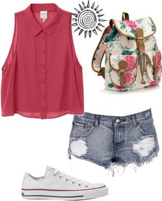 """""""part 1-first week of school outfit"""" by sexybev ❤ liked on Polyvore"""