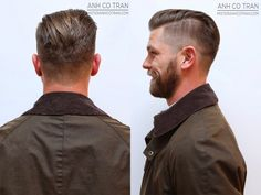 Undercut side and back view: Slin-Fade tapering