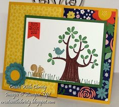 Joy Fold Card by StampinChristy - Cards and Paper Crafts at Splitcoaststampers Joy Fold Card, Punch Art, Stamp Sets, Stamping Up, Folded Cards, Homemade Cards, Your Cards, Card Ideas, Card Making