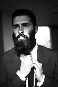 Our choice of week - Chris John Millington, a model from Scotland. Now he is living in NYC. He is popular in social networks especially for him beard. Recently it's very trendy. How do you feel about the beards? Great Beards, Awesome Beards, Mens Style Guide, Men Style Tips, Moustaches, Hairy Men, Bearded Men, Chris Millington, Bart Tattoo