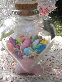 Glass Heart Bottle Seashells Sand Sea Shell Cork Beach Wedding Favor Starfish | eBay Beach Wedding Favors, Our Wedding, Destination Wedding, Wedding Planning, Dream Wedding, Wedding Ideas, Seashells, Starfish, Mermaid Parties