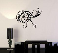 Wall Vinyl Decal Scissors Hair Beauty Salon Barbershop Stylist Stickers (ig3411)