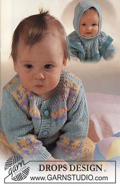 "DROPS jacket, trousers, hat, socks and mittens in ""Alpaca"". - Free pattern by DROPS Design Crochet Basket Pattern, Crochet Poncho Patterns, Crochet Shawls And Wraps, Baby Knitting Patterns, Crochet Baby Mittens, Crochet Baby Boy Hat, Baby Boy Hats, Drops Design, Cat Headband"