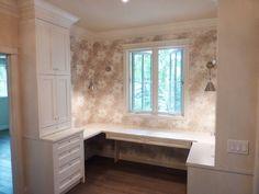 Custom corner bookshelf wall unit. moda kitchens & cabinets Calgary ...