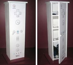 Nintendo Wii inspired cakes is something you see quite often, but this was new. Craig's father has created a Nintendo Wii Cabinet for his son.