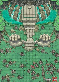 Homebrewing shop Ancient Waterfall Throne in the Swamp - battlemaps Fantasy City Map, Fantasy World Map, Dungeons And Dragons Homebrew, D&d Dungeons And Dragons, Dnd World Map, Dnd Stats, Rpg Map, Dungeon Maps, Map Design