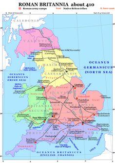 Roman Britain 410 - Mapsof.net