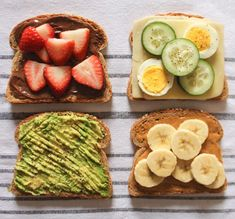 Breakfast Idea Toast Spread is part of Toast spread - The best toast toppings, including Nutella and strawberries Healthy Meal Prep, Healthy Breakfast Recipes, Healthy Snacks, Healthy Recipes, Egg Recipes, Healthy Breakfasts, Boiled Egg Breakfast Ideas, Breakfast Toast, Vegan Breakfast
