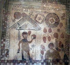 Museo - Zaragoza - Mosaico de Estada - Retocado - Villa romana - Wikipedia, la enciclopedia libre