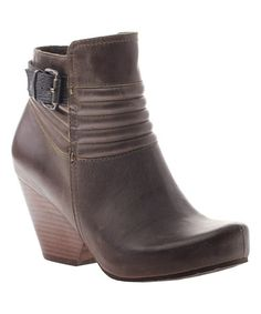 Look what I found on #zulily! Mint Red Bank Leather Bootie #zulilyfinds