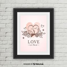 Love Is In The Air Print Love Is In The Air Wall Art by WallArtLab