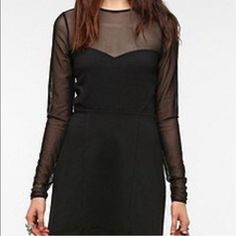UO Silence+Noise Dress Gorgeous dress with sweetheart neckline. Sheer at top of chest, arms and back. Gently worn, no rips, stains, etc. silence + noise Dresses Mini